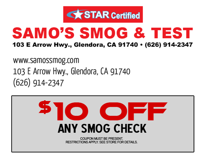 smog test coupon la verne